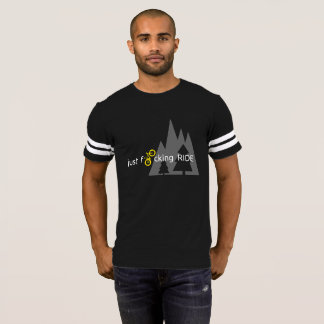 SchralpのマウンテンバイクJFRの黒及びWhiteTワイシャツ Tシャツ