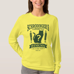 Schrodingerの猫の死んだか生きた量子力学 Tシャツ