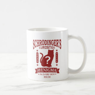 Schrodingerの猫の死んだか生きた量子力学 コーヒーマグカップ
