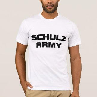 Schulzの軍隊のアメリカの服装の人の白いTシャツ Tシャツ