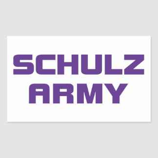 Schulzの軍隊のステッカー 長方形シール