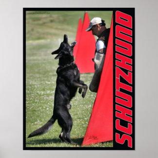 Schutzhundのジャーマン・シェパード犬ポスター ポスター