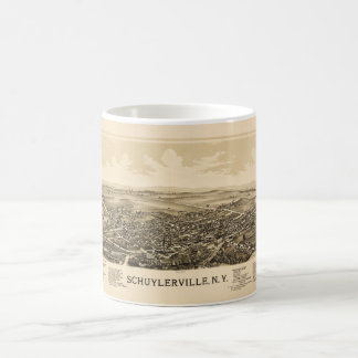 Schuylerville、ニューヨーク(1889年)の空中写真 コーヒーマグカップ