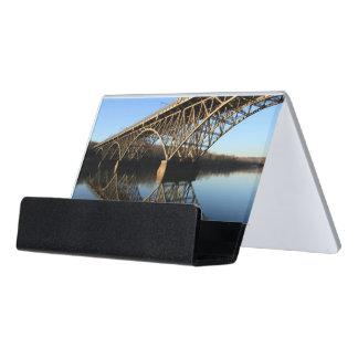 Schuylkillの川上の橋 デスク名刺ホルダー