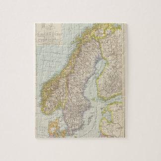 Schweden、Norwegen -スウェーデンおよびノルウェーの地図 ジグソーパズル