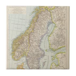 Schweden、Norwegen -スウェーデンおよびノルウェーの地図 タイル