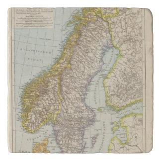 Schweden、Norwegen -スウェーデンおよびノルウェーの地図 トリベット