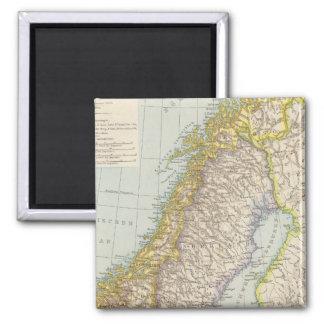 Schweden、Norwegen -スウェーデンおよびノルウェーの地図 マグネット