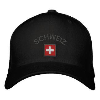Schweizの帽子-スイスの旗が付いているスイス連邦共和国の帽子 刺繍入りキャップ