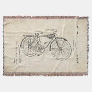 Schwinnの自転車のパテントのブランケット スローブランケット