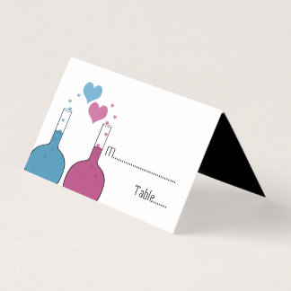Science of Love Wedding Tented Place Cards プレイスカード