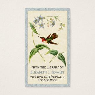 Scintillantハチドリ名前入りな媒体カード 名刺