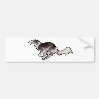 Scirocco絹のWindhounds バンパーステッカー