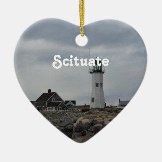 Scituateの古い灯台 セラミックオーナメント