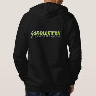 Scollettaのグランジなフード付きスウェットシャツ001 パーカ