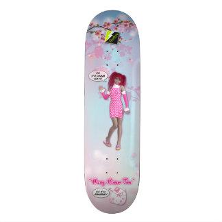 """Scollettaの""""桜の時間""""デッキ026 18.7cm ミニスケートボードデッキ"""