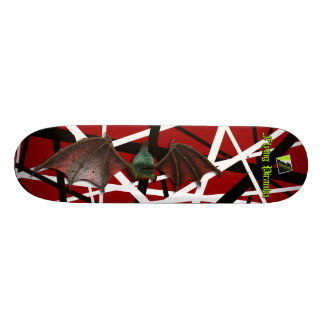 "Scollettaの""飛行ピラニア""のデッキ036 18.7cm ミニスケートボードデッキ"