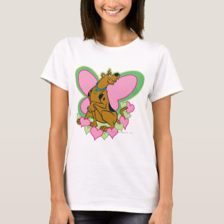 Scoobyのかわいらしい蝶Scooby Tシャツ