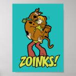 Scooby-DooおよびシャギーなZoinks! ポスター