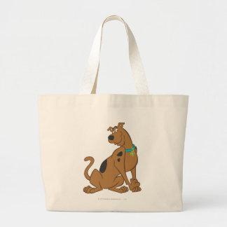 Scooby Dooのかわいいよりかわいい姿勢12 ラージトートバッグ