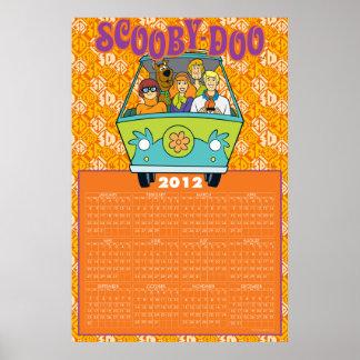 Scooby-Dooミステリー機械2012カレンダー ポスター