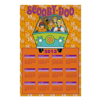 Scooby-Dooミステリー機械2013カレンダー ポスター