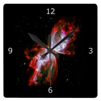 Scorpiusの星座の蝶星雲 スクエア壁時計