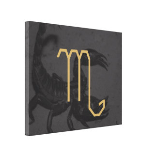 Scorpiusの(占星術の)十二宮図の印|のカスタマイズ可能な背景 キャンバスプリント