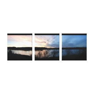 scott湖のキャンバスプリントのカンザスの日没 キャンバスプリント