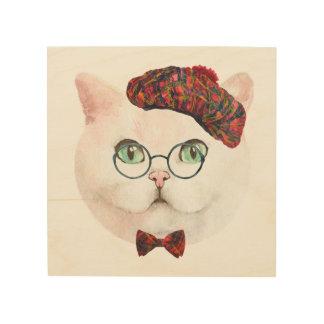 Scottish Lass Cat Wall Art ウッドウォールアート