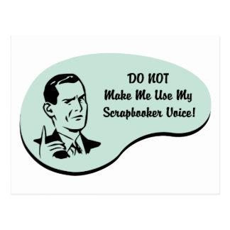 Scrapbookerの声 ポストカード