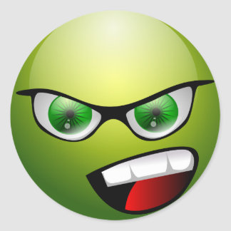 Screaminの緑の意地悪な人 ラウンドシール