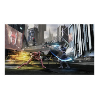Screenshot: フラッシュ対Nightwing ポスター