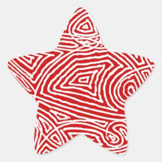 Scribbleprintの星 星シール
