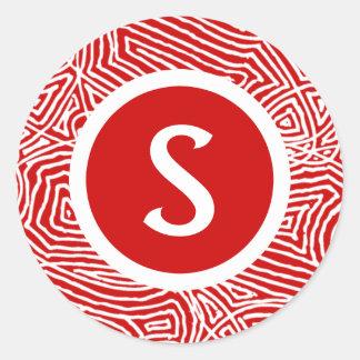 Scribbleprint Initial ラウンドシール