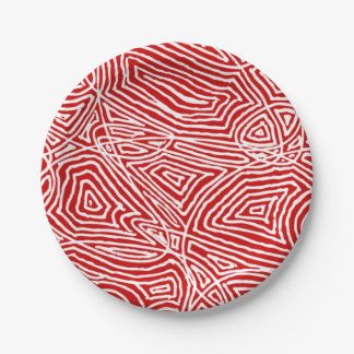 Scribbleprintsの赤 ペーパープレート