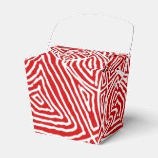Scribbleprints赤いパターン フェイバーボックス
