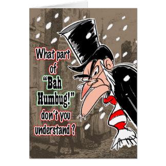 Scroogeのクリスマスカード カード
