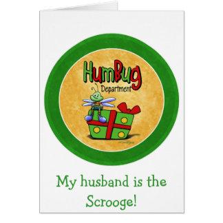 Scroogeの休日- Bahの詐欺 グリーティングカード