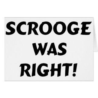 Scroogeは右でした グリーティングカード