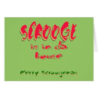 Scroogeはdaの家にあります グリーティングカード