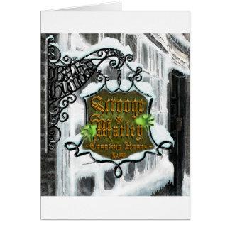 Scrooge&MarleySignScene グリーティングカード