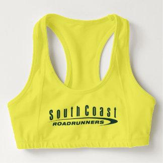 SCRRはブラのネオンの黄色を遊ばします スポーツブラ