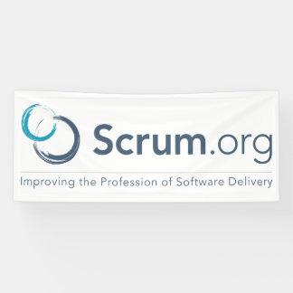 Scrum.orgのロゴの旗-ビニール 横断幕