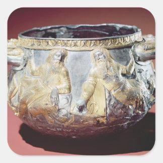 Scythianの兵士を描写する飲むコップ スクエアシール