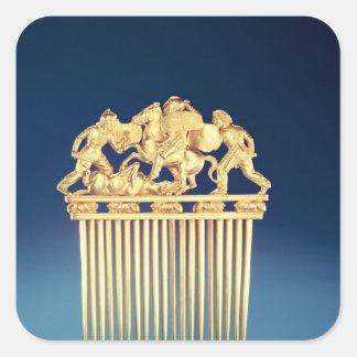 Scythianの櫛の前部 スクエアシール