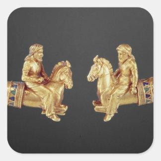 Scythianの騎手の形の首のリングや輪 スクエアシール