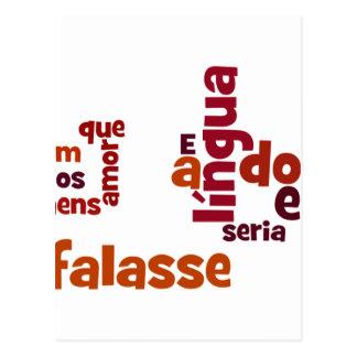 SeのEUのfalasse língua dosのhomens ポストカード