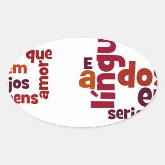 SeのEUのfalasse língua dosのhomens 楕円形シール