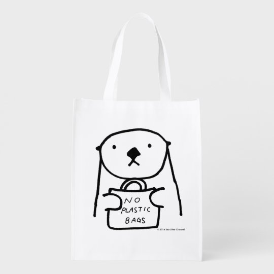 Sea Otter No Plastic Bags エコバッグ